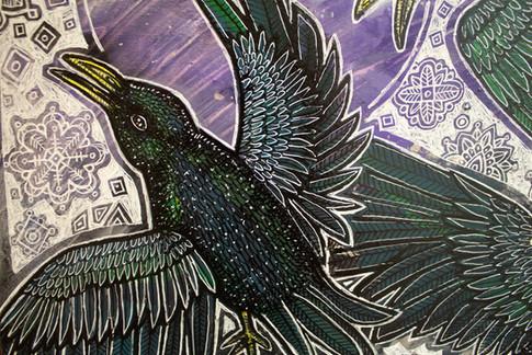 Starlings In Snow