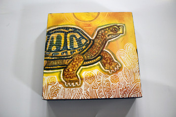 Miniature Box Turtle painting by Lynnette Shelley