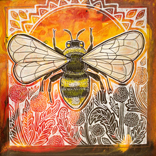 Bumblebee and Dandelions