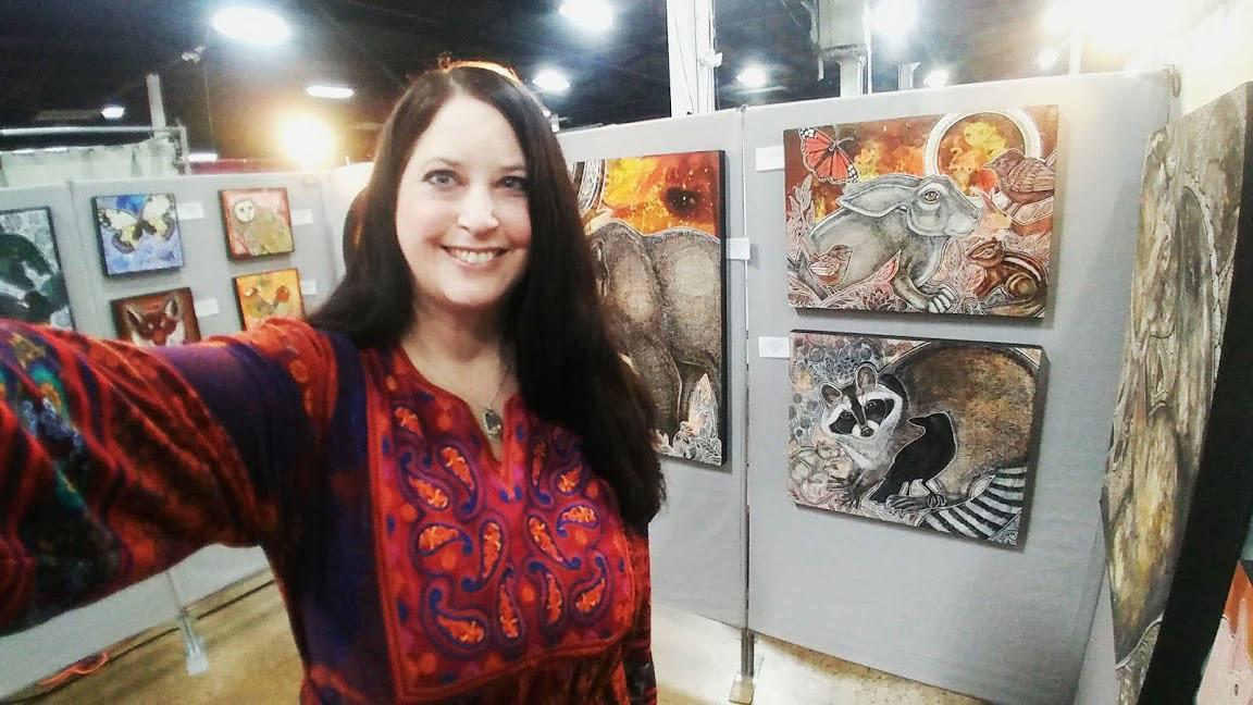 Artist Lynnette Shelley at Sugarloaf Craft Festival