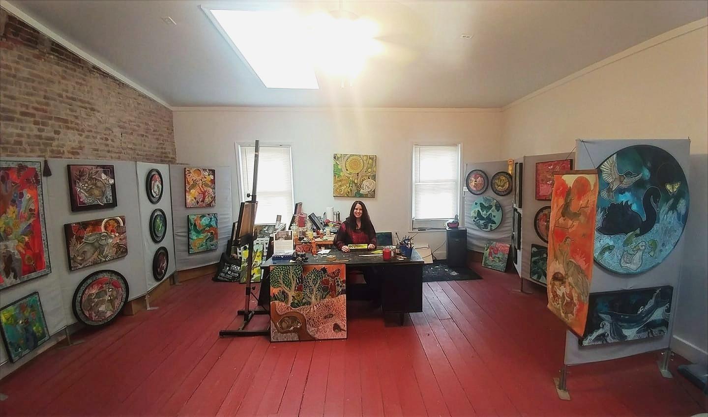 Artist Lynnette Shelley's Norristown art studio