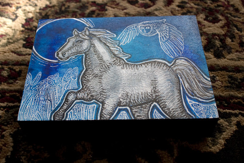 Blue Skies for Silver Horse