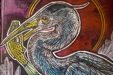 Great Blue Heron at Dusk