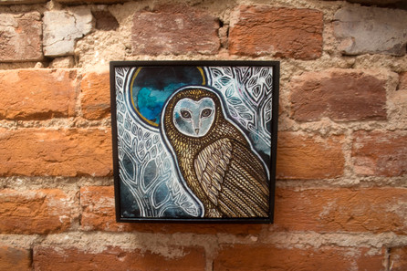 Owl and Blue Moon