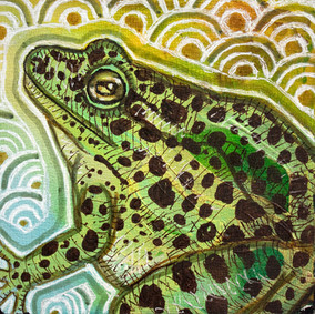 Miniature Painting of a frog
