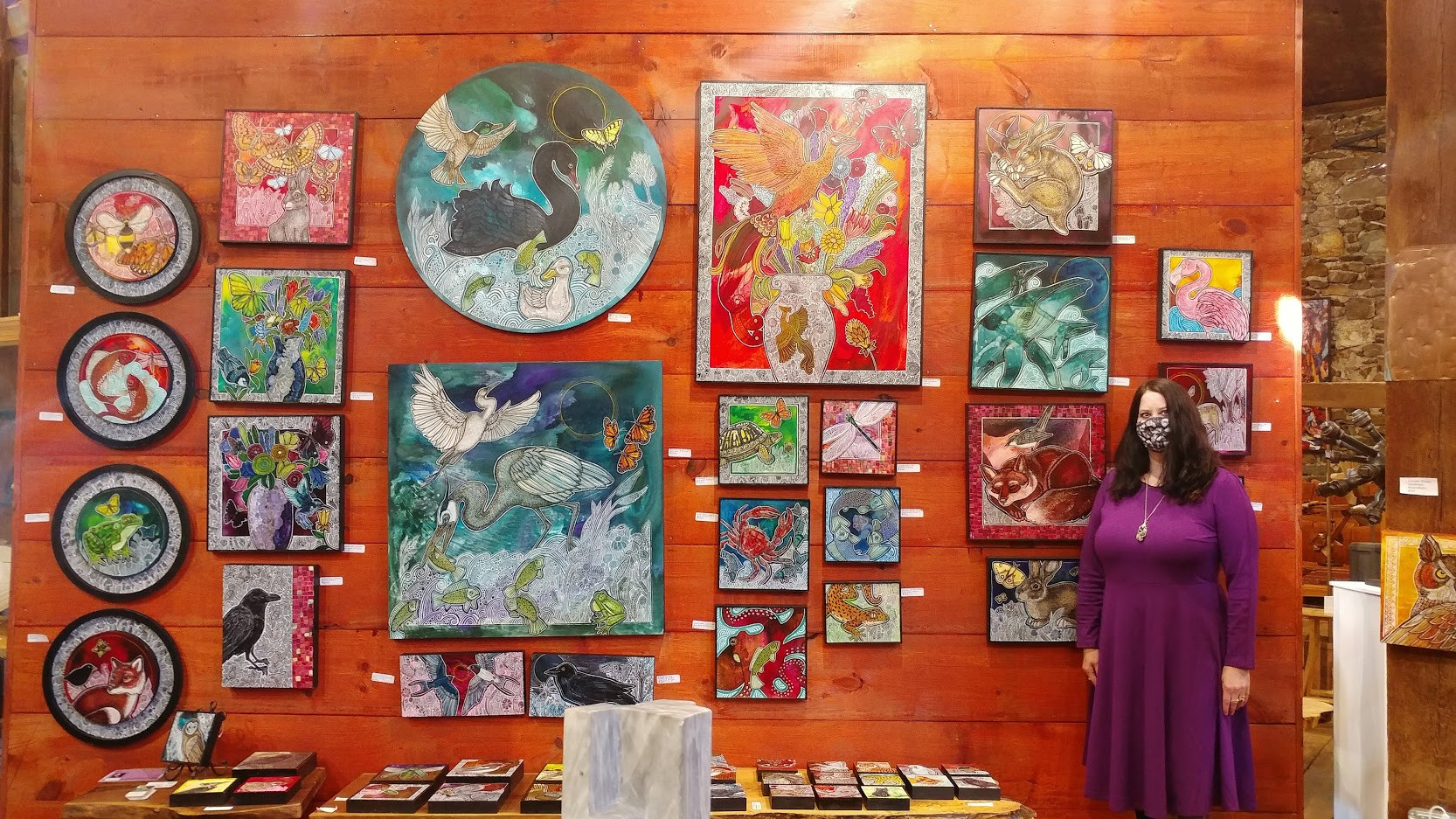 Artist Lynnette Shelley at the 2020 Chester County Studio Tour