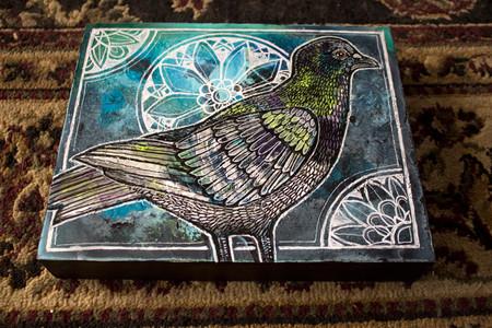 Pigeon on Blue