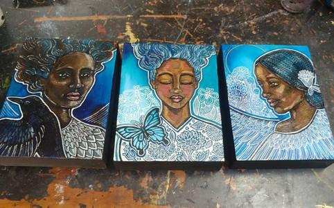 Blue Series / Women of Color Portraits