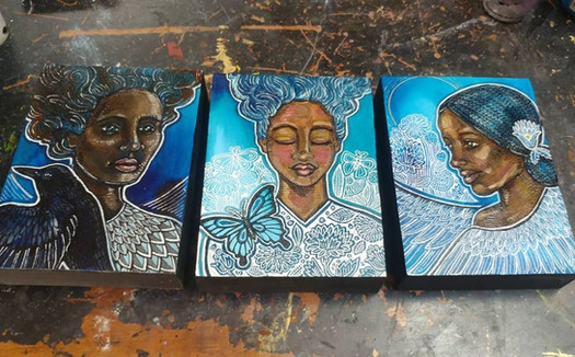 Blue Series featuring women of color
