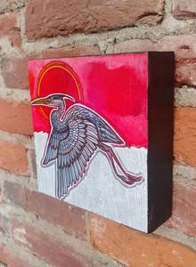 Red Sky, Blue Heron