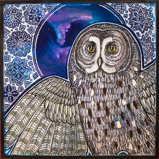 Winter Moon Owl
