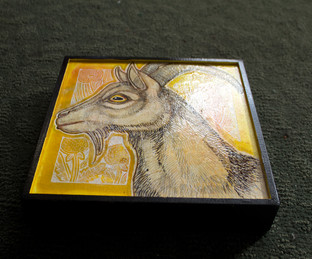 Goat with Dandelions