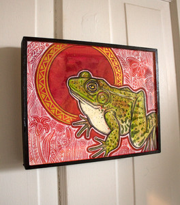 Green Frog, Red-Orange Sky
