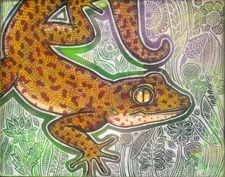 Gecko on the Green