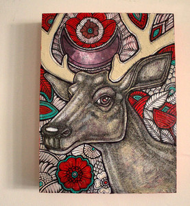 Stag and Rose