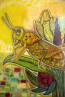 Grasshopper in the Garden