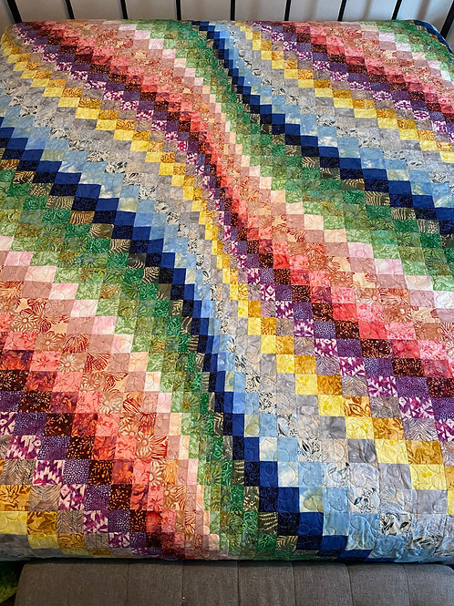 RAINBOW KING SIZE QUILT