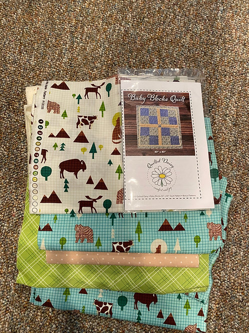 BABY BLOCKS QUILT PATTERN AND KIT