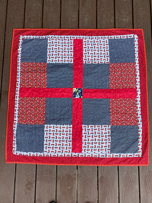RED TRACTOR BABY QUILT