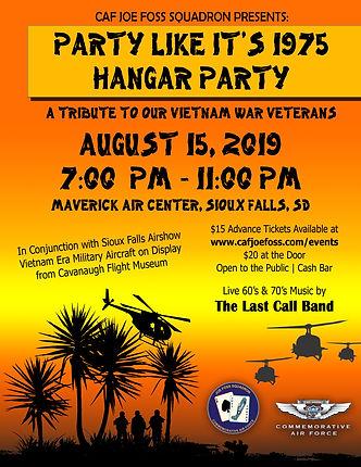 CAF Vietnam Hangar Dance Poster
