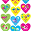 Thumbnail: Girly Hearts Monthly stickers