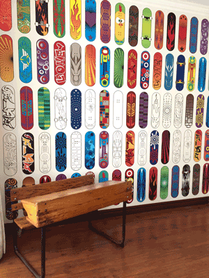 Skateboard Interactive Wallpaper