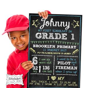 School Chalkboard Poster