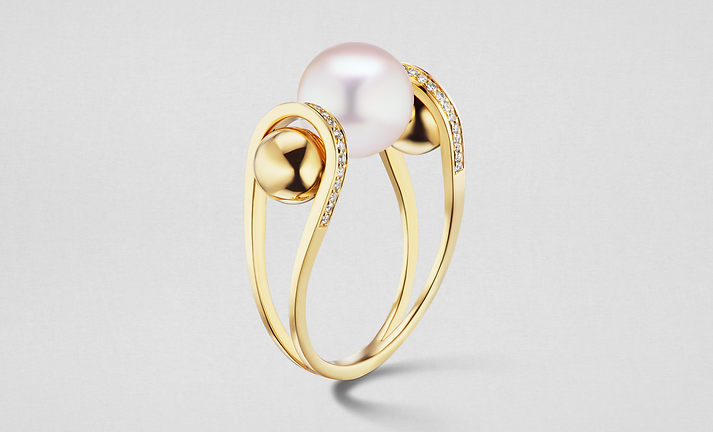 PEARL Double Lariat Ring
