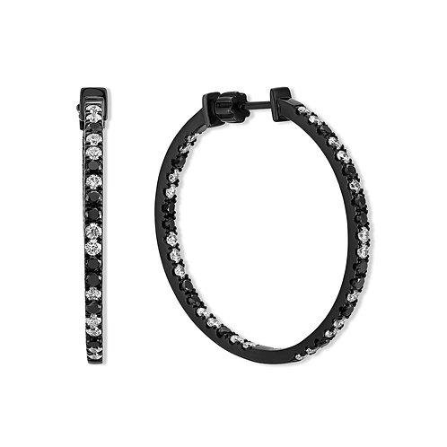 V Noir Midnight Hoop Earrings