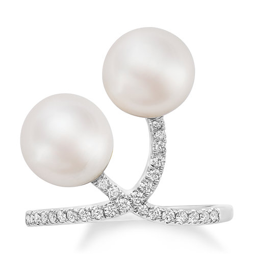 Revel Pearl Duo Curve Ring