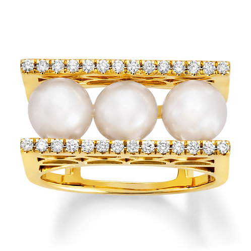 Revel Pearl Bar Stack Ring