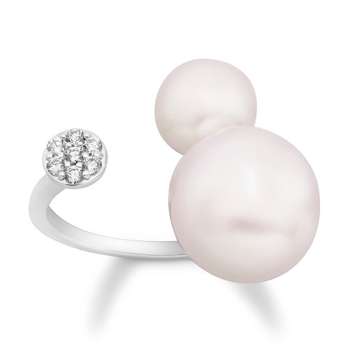 Revel Duo Pearl & Diamond Ring