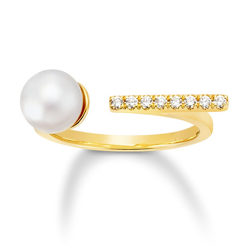 Revel Pearl Bar Open Ring