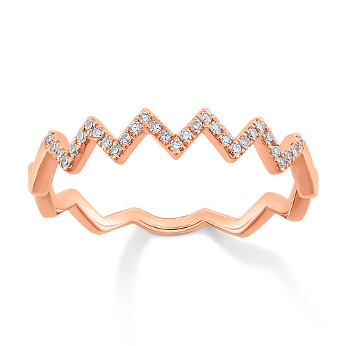 Geo Zig Zag Diamond Band