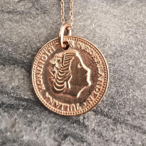 """Echt-Silber Halskette """"Coin"""""""