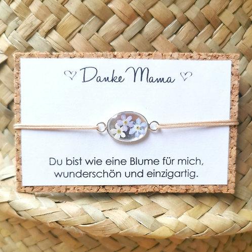 """""""Blümchen für Mama"""" echt Silber Fassung"""