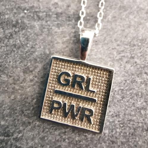 """Echt-Silber Halskette """"GRL PWR"""""""