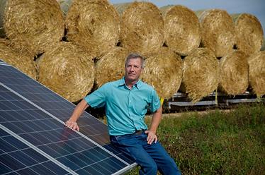Ralph Kaehler at Farm's Solar Array
