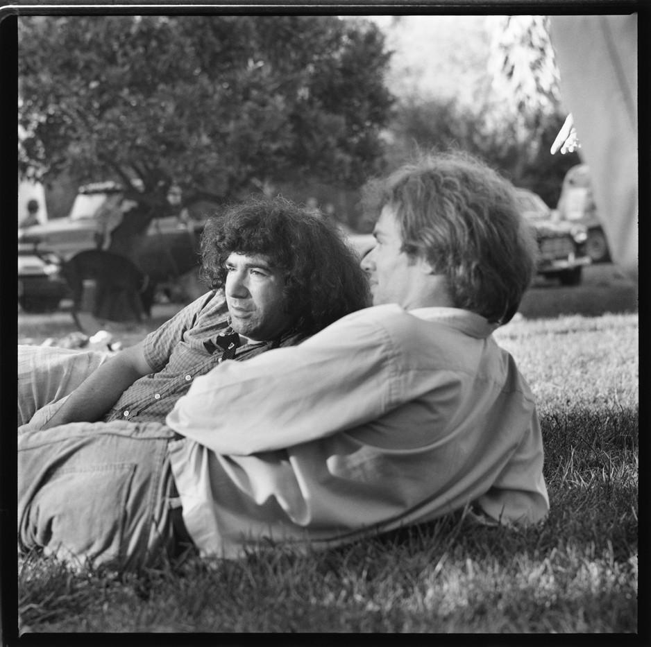 09Olompali - Jerry on lawn at Olompali.J