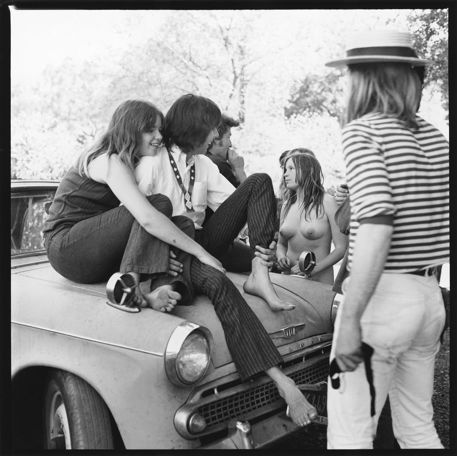 11 Olompali - Rock Scully sits on car ho