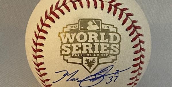 Autographed 2012 World Series Baseball