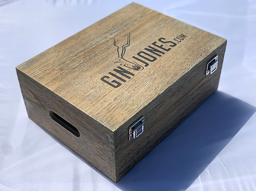 Gin & Jones Premium Oak Effect Gift Box