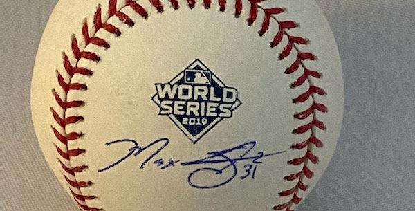 Autographed 2019 World Series Baseball