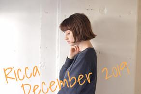 RICCA12月お休みのご案内