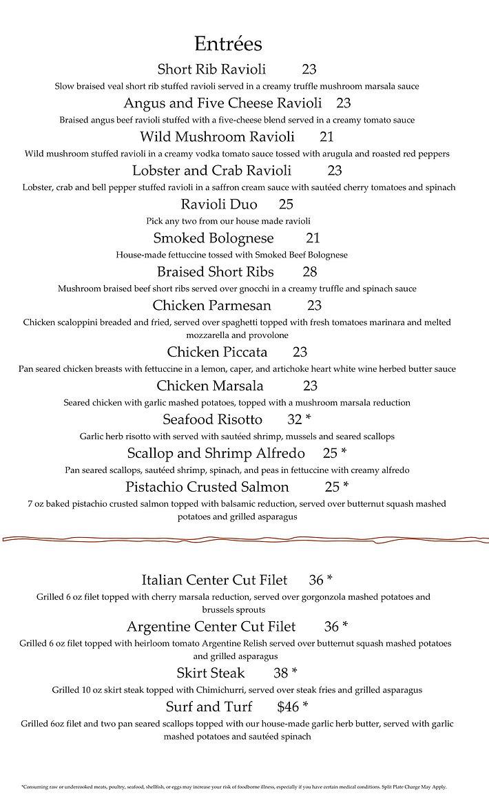 Alfios Dinner Menu and Wine List 9.5 PDF