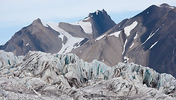 Glaciers in Svalbard. Arctic Design. Eco-friendly t-shirts. Four Whales