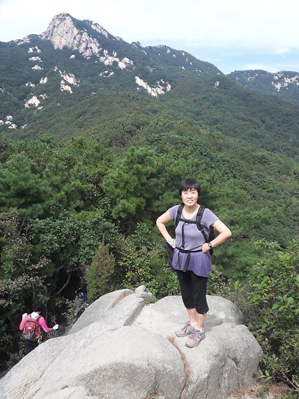 on Mt. Bukhansan, Seoul in 2009