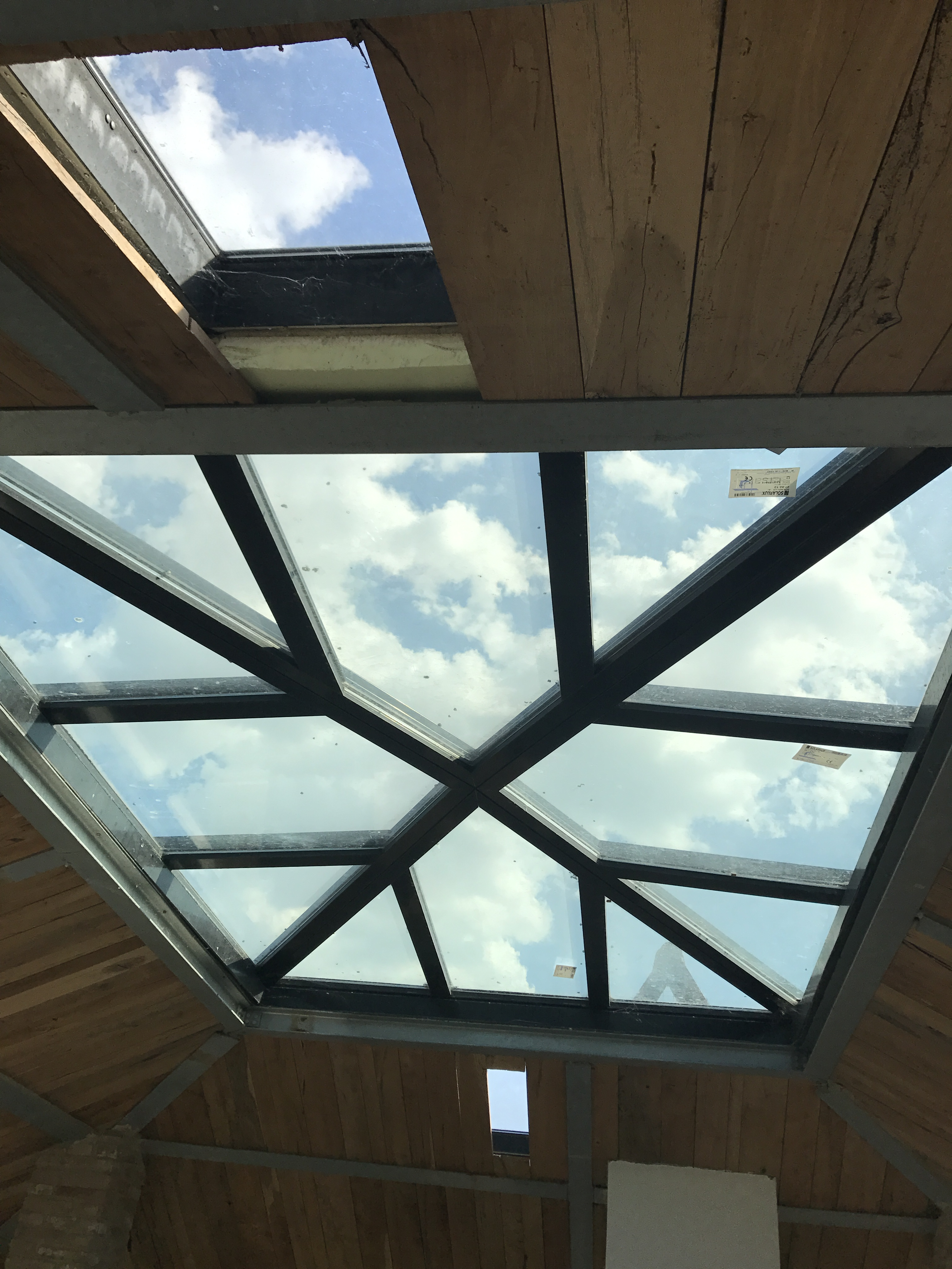 Skylight in the master bedroom