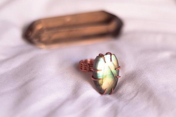 Labradorite Ring Size 9.5