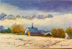 Village d'Ecoteaux sous la neige